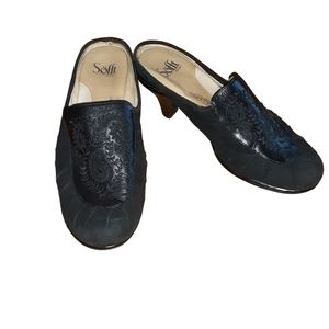 Sofft Womens Black Mules Clogs